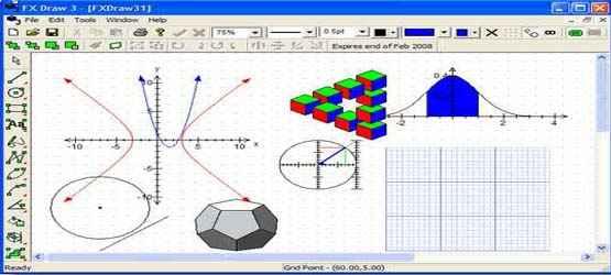 FX Draw untuk menggambar Geometri