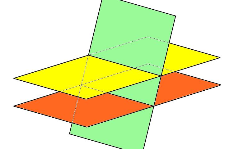 bidang yang saling berpotongan