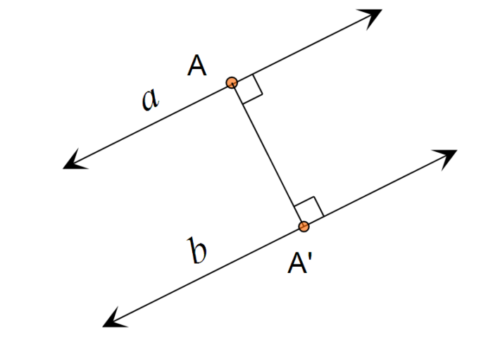 Jarak garis dengan garis saling sejajar