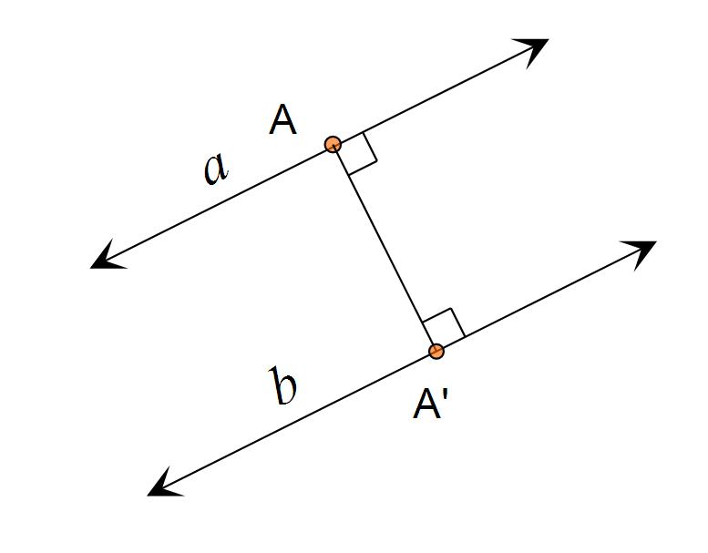 jarak garis dengan garis